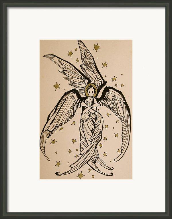 Seraphim Framed Print By Jackie Rock
