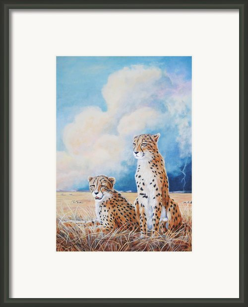 Serengeti Strikes Framed Print By Didi Higginbotham