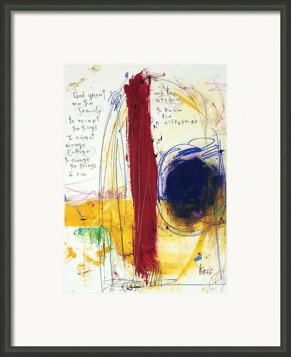 Serenity Prayer 041212 Framed Print By Michel  Keck