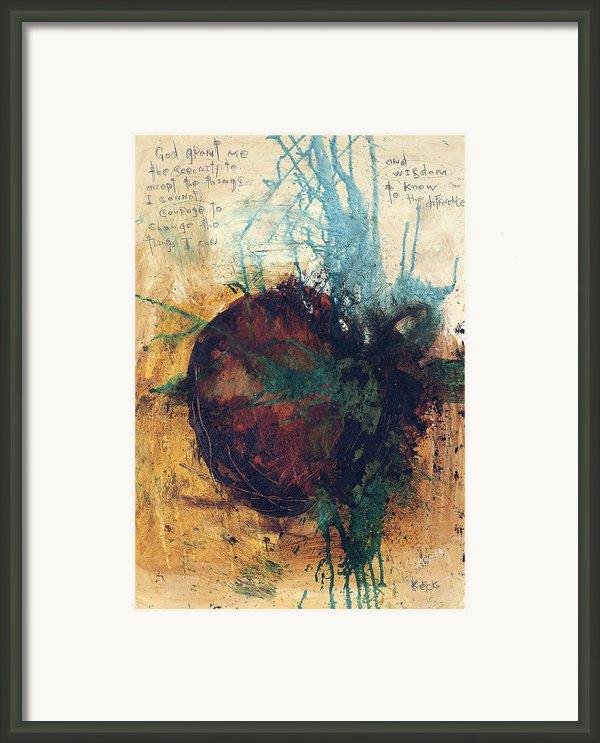 Serenity Prayer 041312 Framed Print By Michel  Keck