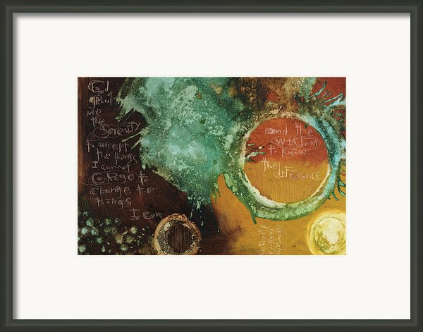 Serenity Prayer Framed Print By Michel  Keck