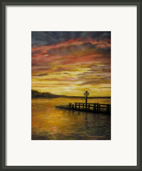 Sesuit Harbor At Sunset Framed Print By Jack Skinner