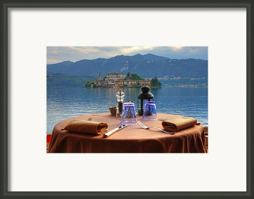 Set Table With A View Framed Print By Joana Kruse
