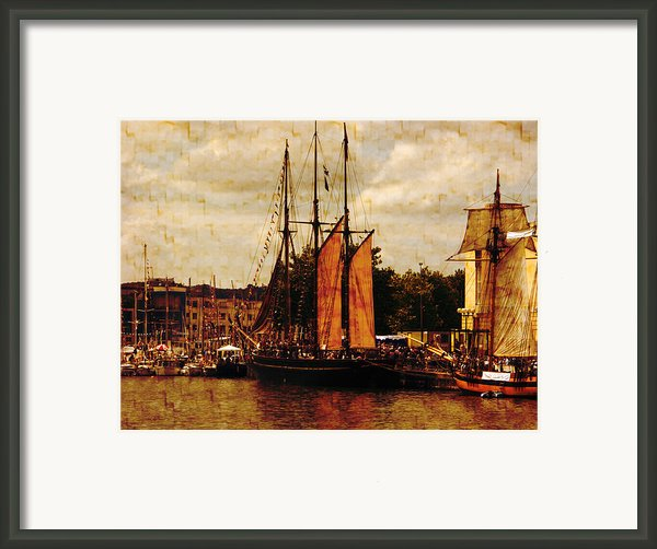 Setting Sail From Bristol Framed Print By Brian Roscorla