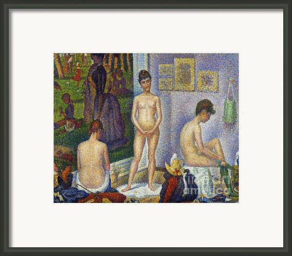 Seurat: Models, C1866 Framed Print By Granger