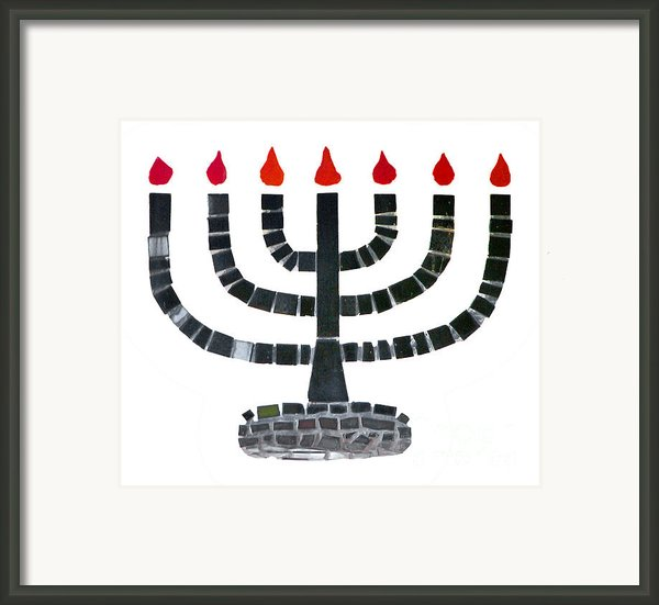 Seven-branched Temple Menorah Framed Print By Christine Till