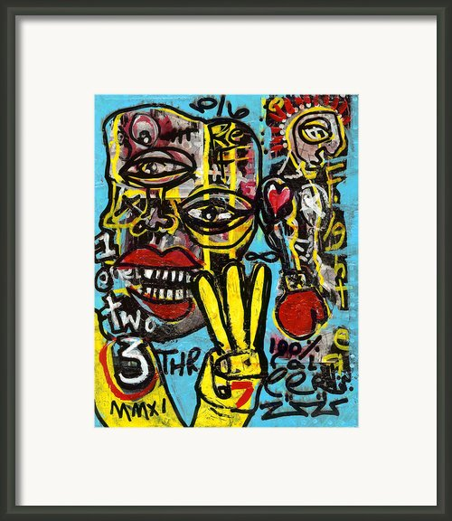 Seven Left Framed Print By Robert Wolverton Jr