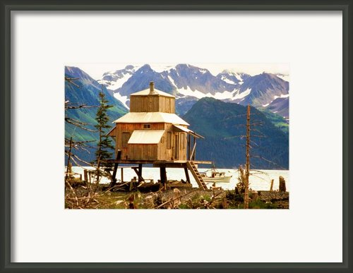 Seward Alaska House Of Stilts Framed Print By James Bo Insogna