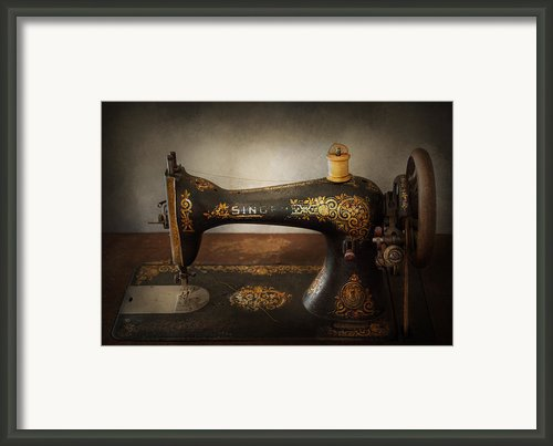 Sewing - Sing A Song Framed Print By Mike Savad