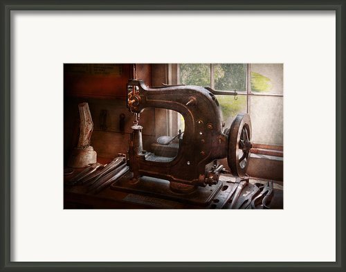 Sewing Machine - Leather - Saddle Sewer Framed Print By Mike Savad