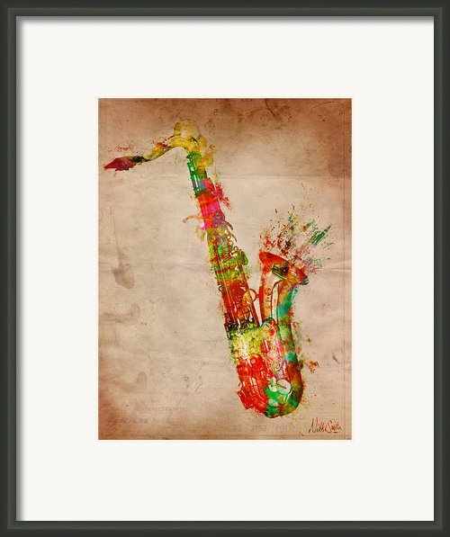 Sexy Saxaphone Framed Print By Nikki Marie Smith