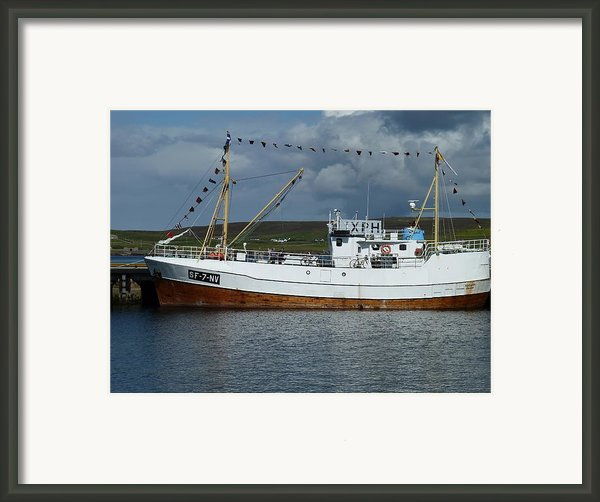 Sf-5-nv Visiting Shetland Framed Print By George Leask