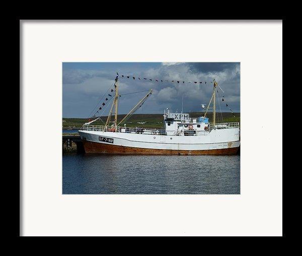 Sf-5-nv Visiting Shetland Framed Print By George Leask