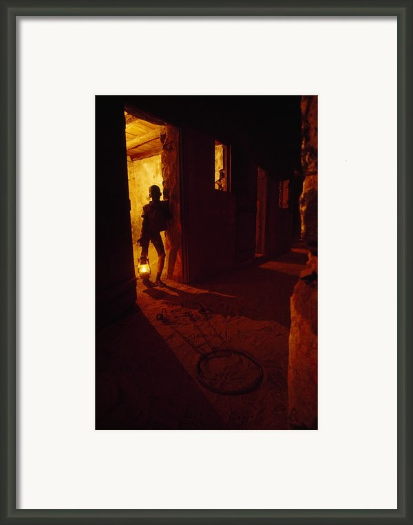 Shackles In Cell On Goree Island Recall Framed Print By Gordon Gahan
