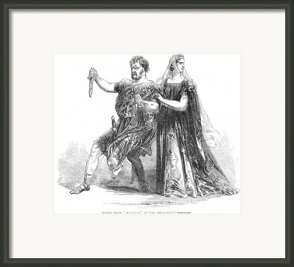 Shakespeare: Macbeth, 1845 Framed Print By Granger