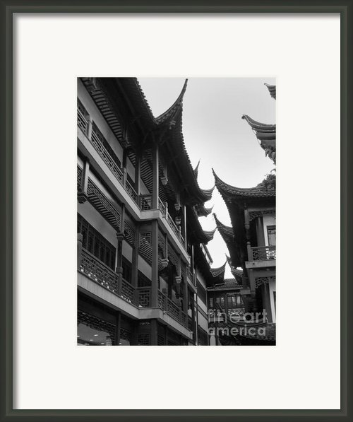 Shanghai City 5 Framed Print By Xueling Zou