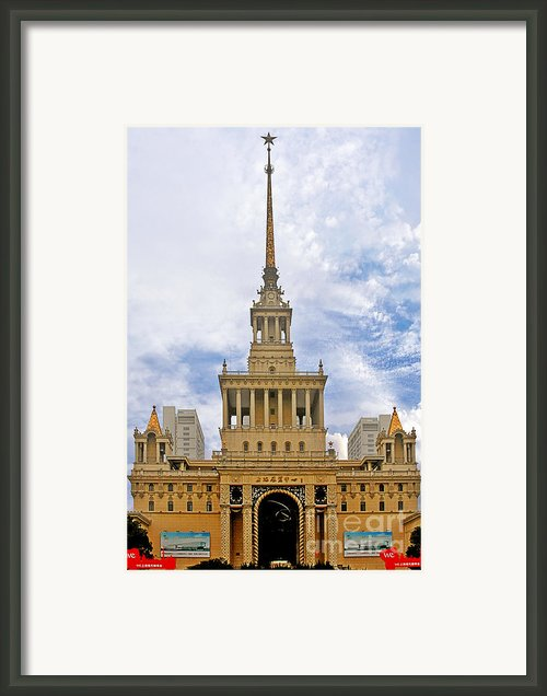 Shanghai Exhibition Center - Soviet Friendship Mansion Framed Print By Christine Till