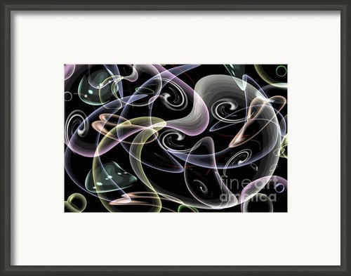 Shapes Of Fluidity Framed Print By Kaye Menner
