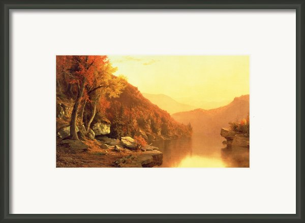 Shawanagunk Mountains Framed Print By Jervis Mcentee