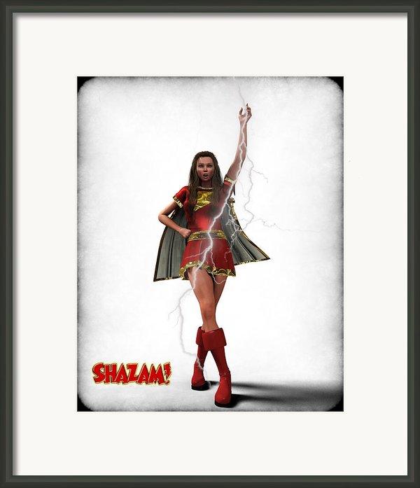 Shazam - Mary Marvel Framed Print By Frederico Borges
