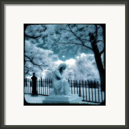 She Dreams In Blue Framed Print By Gothicolors And Crows