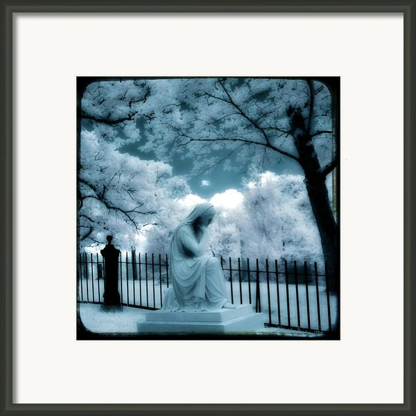 She Dreams In Blue Framed Print By Gothicolors Images