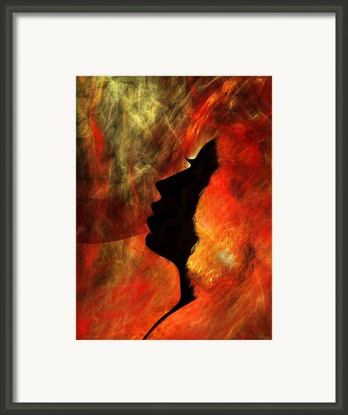 She Is Fire Framed Print By Paul St George