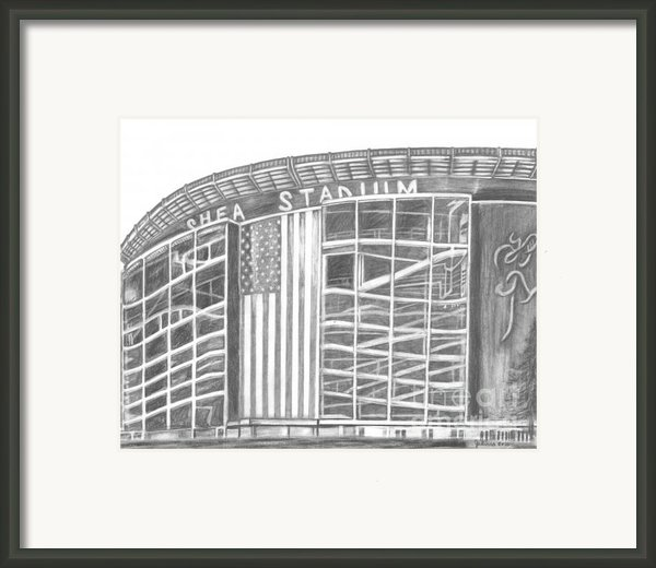 Shea Stadium Framed Print By Juliana Dube