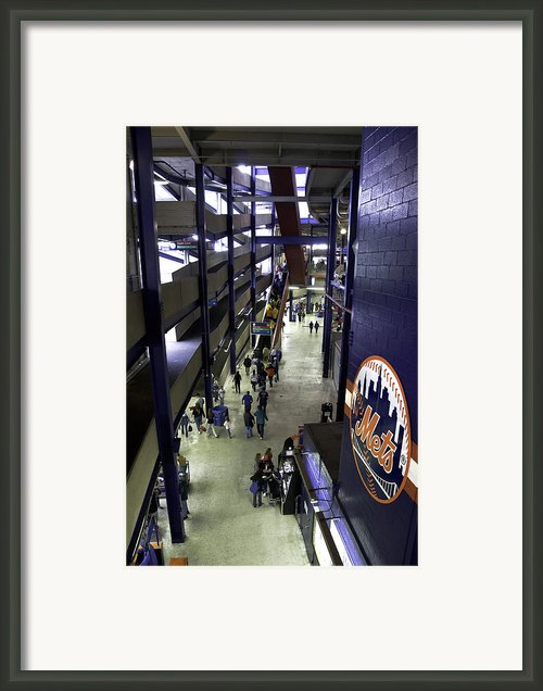 Shea Stadium Walkways Framed Print By Paul Plaine