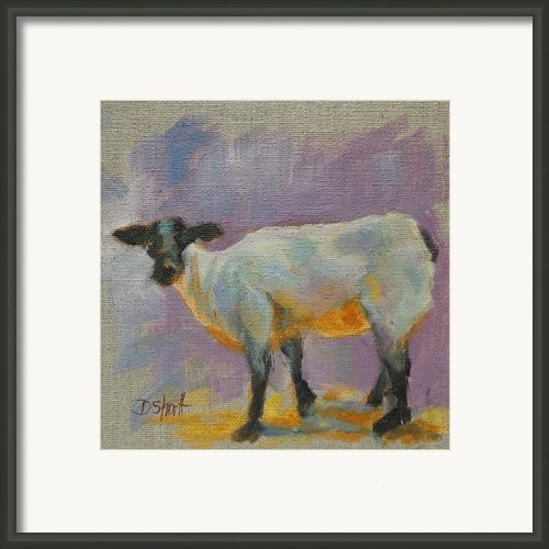 Sheep Faced Framed Print By Donna Shortt
