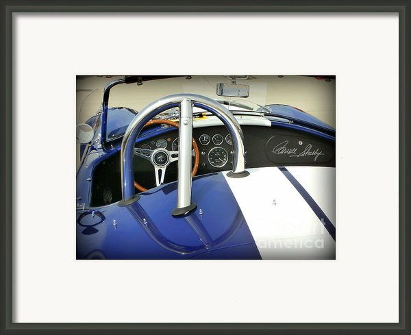 Shelby Signed Cobra Framed Print By Karyn Robinson