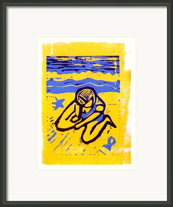 Shellie - The Yellow Sand Framed Print By Adam Kissel