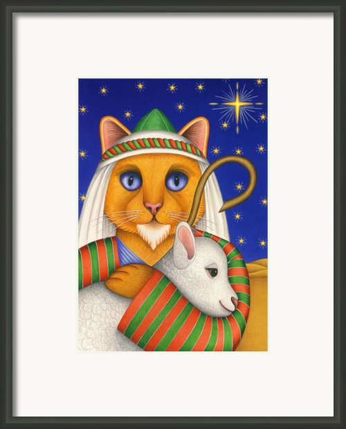 Shepherd Cat Framed Print By Carol Wilson