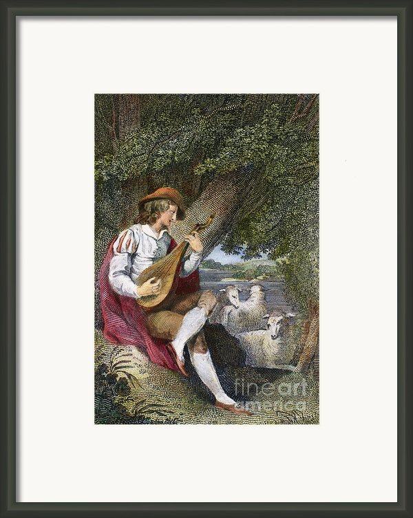 Shepherd Framed Print By Granger