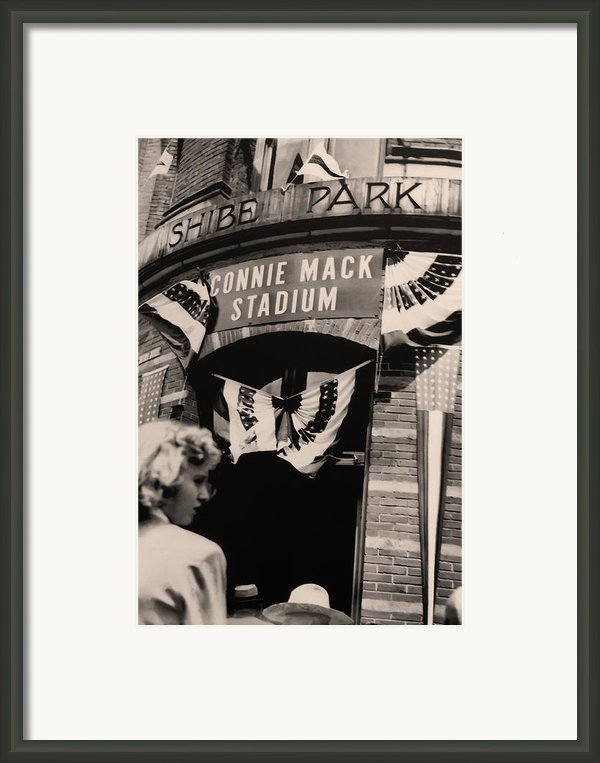 Shibe Park - Connie Mack Stadium Framed Print By Bill Cannon