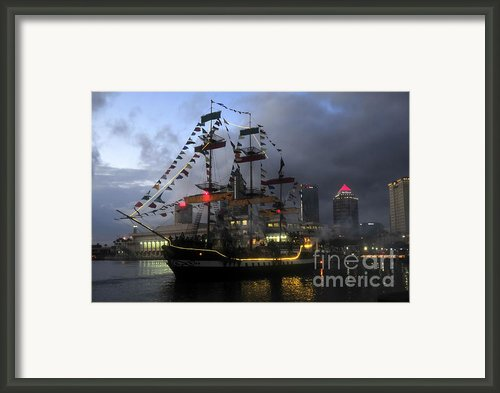 Ship In The Bay Framed Print By David Lee Thompson