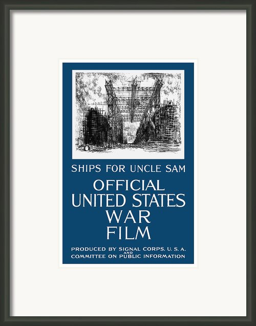 Ships For Uncle Sam Framed Print By War Is Hell Store