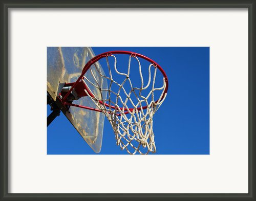 Shootin Hoops Framed Print By Karen M Scovill