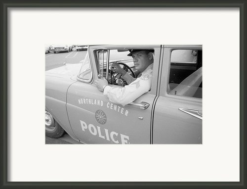 Shopping Police Framed Print By Ecell
