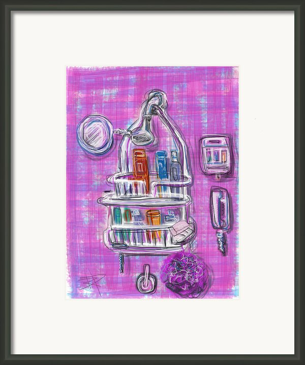 Shower Time Framed Print By Russell Pierce