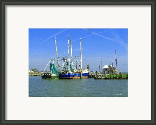 Shrimp Boats Seabrook  Framed Print By Fred Jinkins