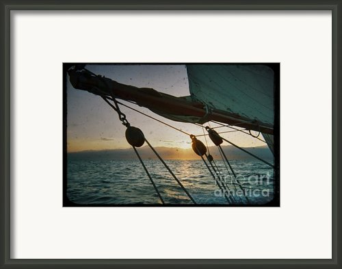 Sicily Sunset Sailing Solwaymaid Framed Print By Dustin K Ryan