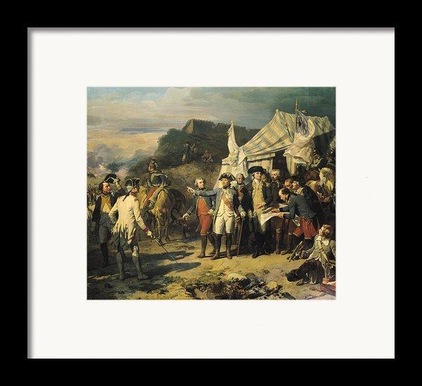 Siege Of Yorktown Framed Print By Louis Charles Auguste  Couder
