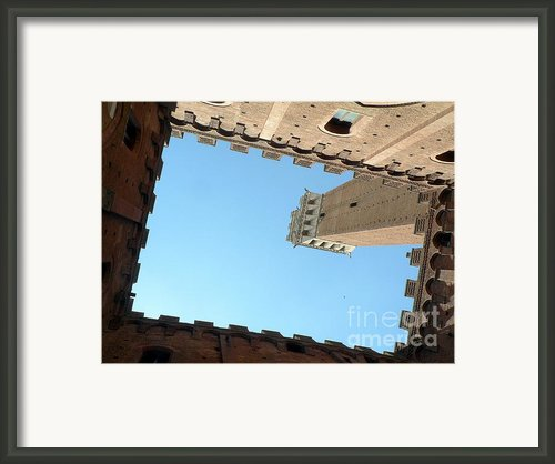 Sienna Tower Framed Print By Elizabeth Fontaine-barr