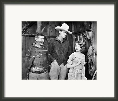 Silent Film: Cowboys Framed Print By Granger