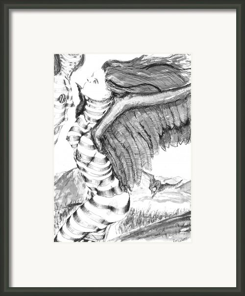 Silent Flight Framed Print By Ron Bissett