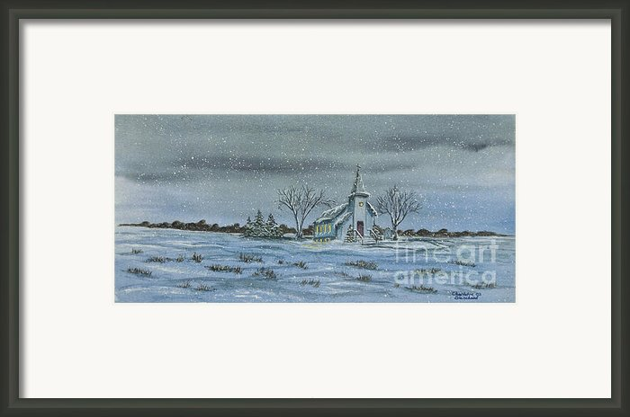 Silent Night Framed Print By Charlotte Blanchard