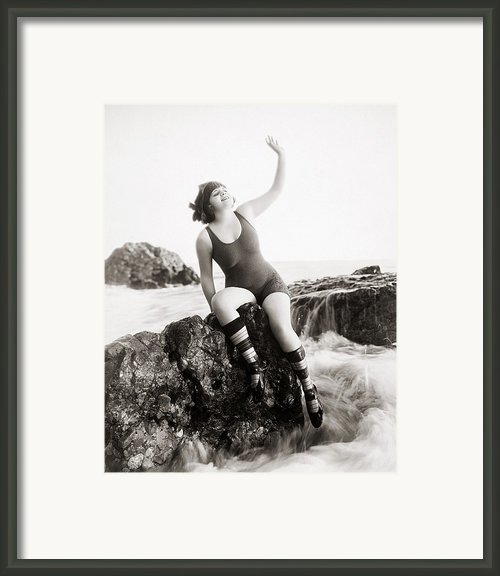 Silent Still: Bather Framed Print By Granger