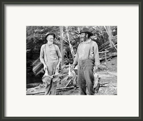 Silent Still: Old People Framed Print By Granger