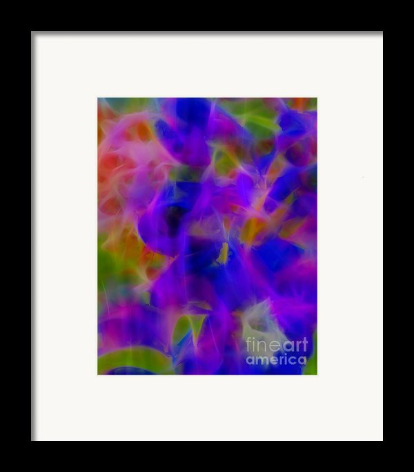 Silk In The Garden Framed Print By Judi Bagwell